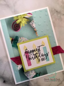 A simple and pretty card using Stampin' Up! Picture Perfect Birthday Photopolymer stamp set