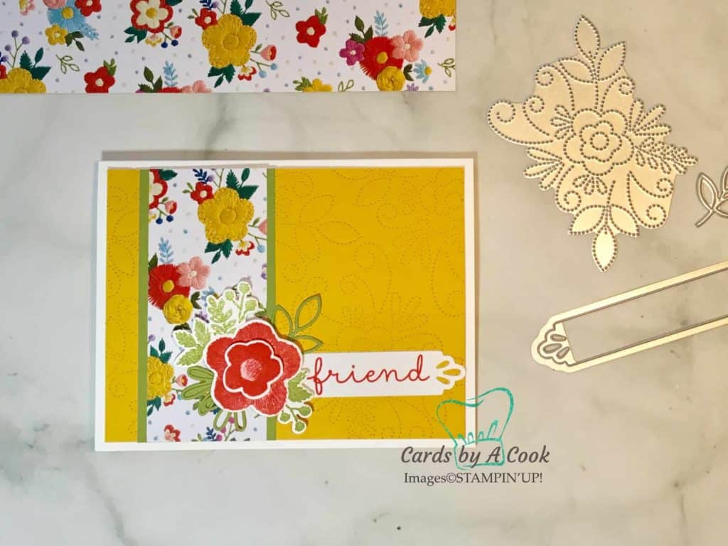 Needlepoint Elements Framelits SU Stampin' Up! create faux stitched background card stamping up
