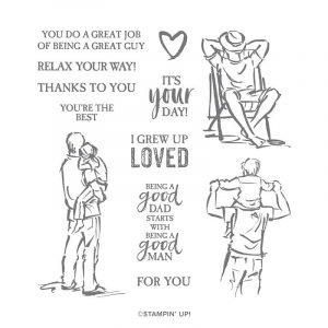 A good man stamp set by Stampin' Up! Good set for special Men in your life