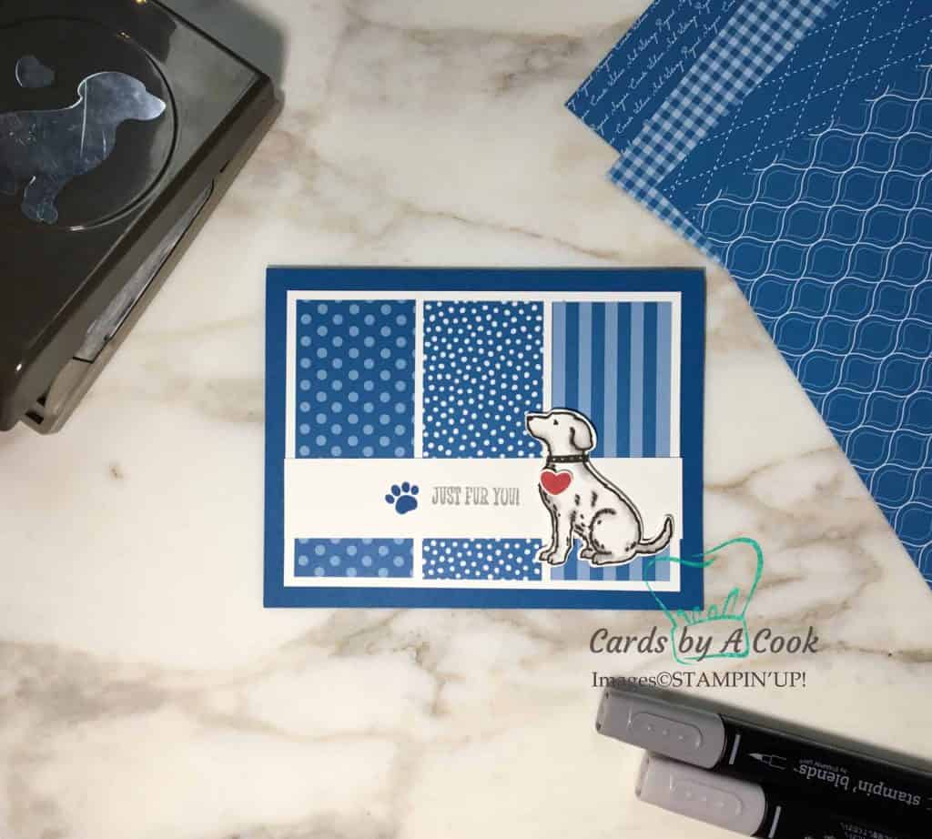 Dog lover card featuring Happy Tails stamp set from Stampin' Up!