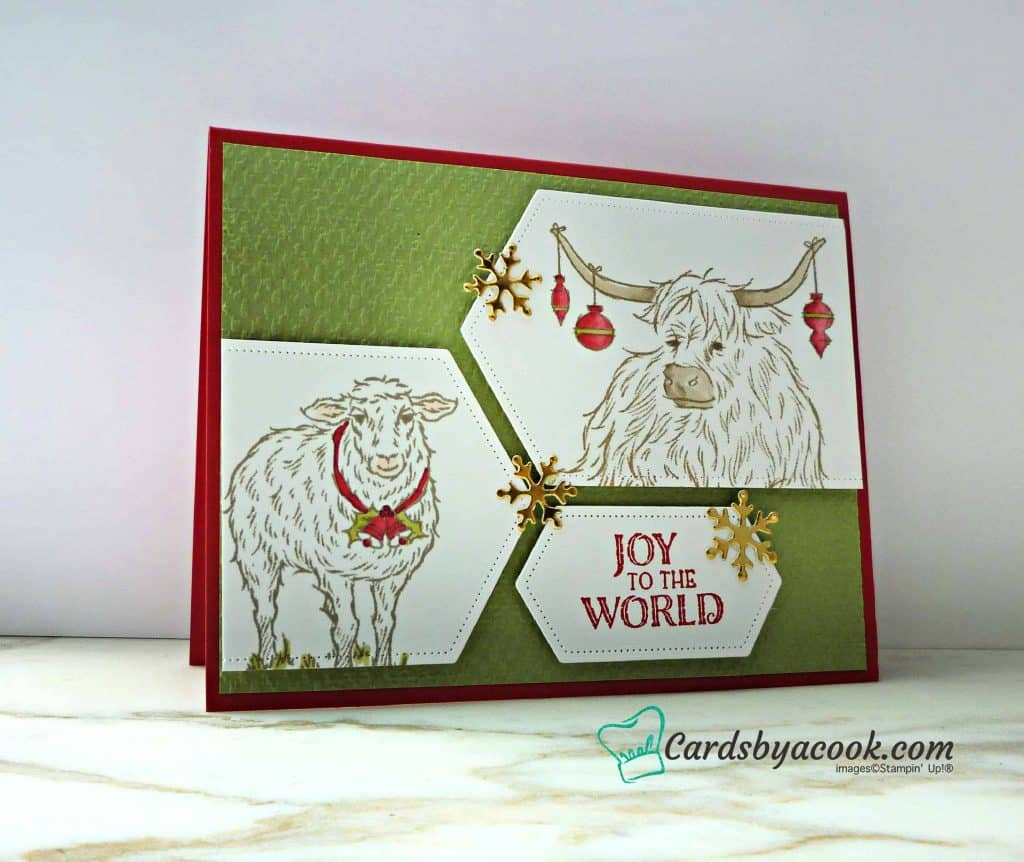 yuletide pasture stamp set by Stampin' Up! christmas card