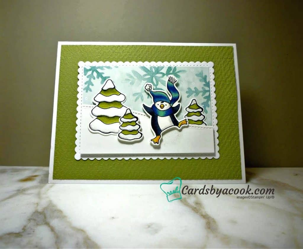 card made with Freezin' Fun stamp set by Stampin Up!