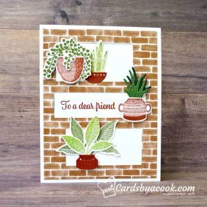 greeting card featuring plants
